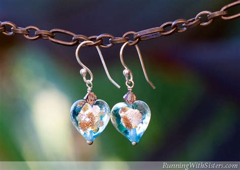 How To Make Glass Bead Earrings Running With