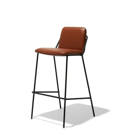 Leather Sling Bar Stool by Industry West Sling Bar Stool Leather Fiction