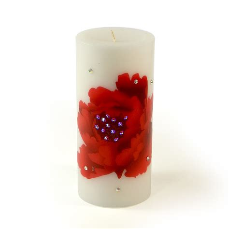 decorative flower candles decorative luxury candle red poppy flower from home