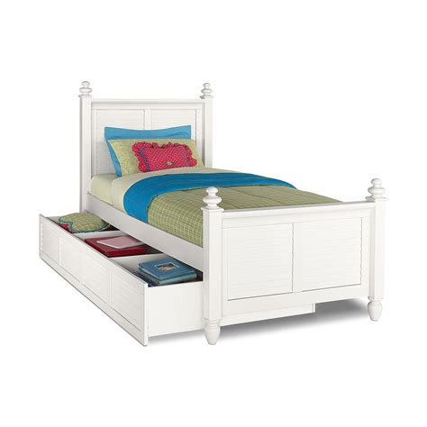White Trundle Bed seaside white bed with trundle value city furniture