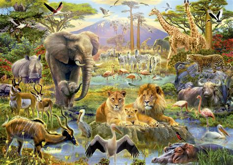 american zoo a sociological safari books africa watering jigsaw puzzle puzzlewarehouse