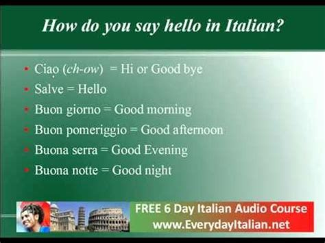how do you say in italian how do you say hello in italian