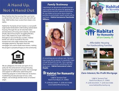 habitat for humanity homeownership brochure 2009