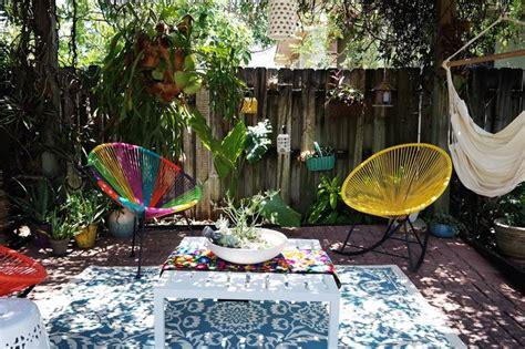 bohemian backyard swoon worthy bright bohemian backyard wayfair