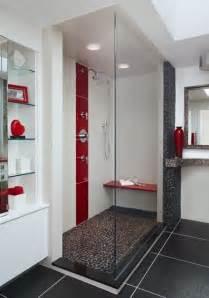 Gray And Red Bathroom - contemporary bathroom 183 more info