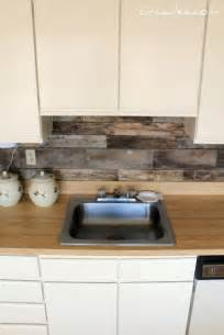 Diy Kitchen Backsplash Cheap Diy Rustic Kitchen Backsplash Shelterness