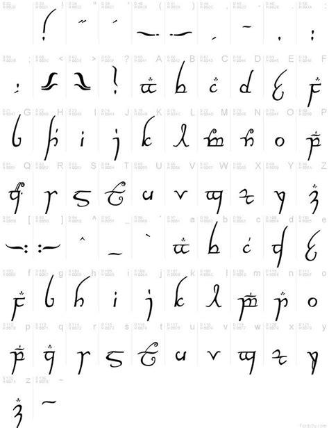 elvish tattoo font generator plus de 25 id 233 es g 233 niales de la cat 233 gorie alphabet elfique
