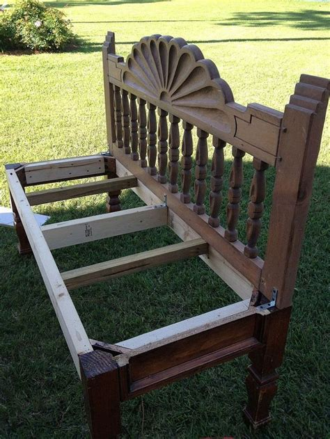 making a bench from a headboard how to make a bench from an end table and headboard