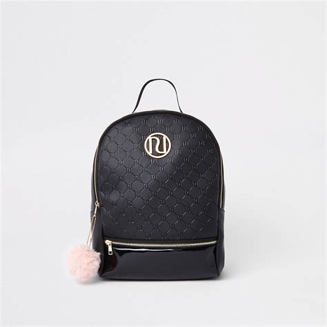 girls black ri monogram backpack backpacks bags