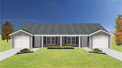 cheap duplex plans duplex plan with garage j0408 14d plansource inc