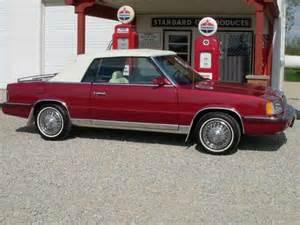 1986 Chrysler Lebaron For Sale Sell Used 1986 Chrysler Lebaron Base Convertible 2 Door 2