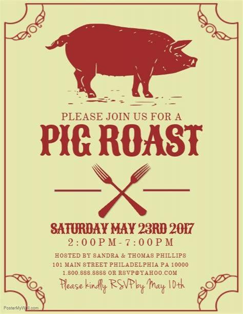 Pig Roast Template Postermywall Hog Roast Flyer Template