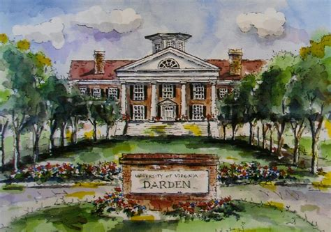 Of Virginia Darden Mba by School Prints