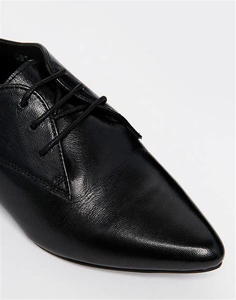 asos asos mara leather pointed flat shoes at asos