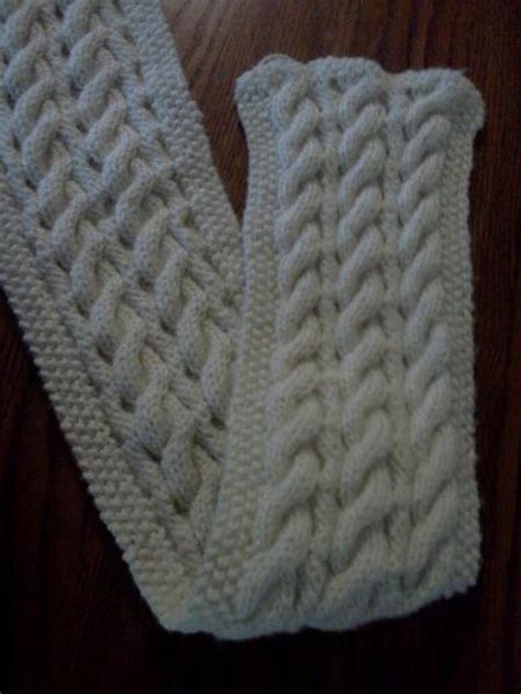knitting pattern reversible scarf reversible cable scarf free pattern crochet pinterest