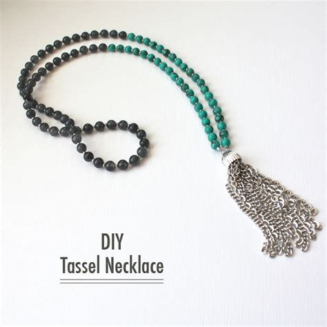 how to make tassels for jewelry williams diy tassel necklace