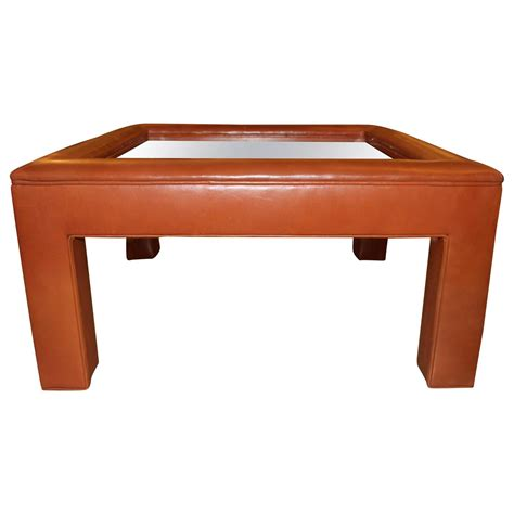 pretty coffee tables pretty leather wrapped table with a glass insert bridges