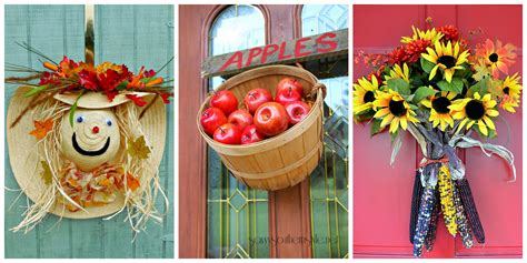 budget fall decorating ideas door ideas fall home tour 18 fall door decorations ideas for decorating your front