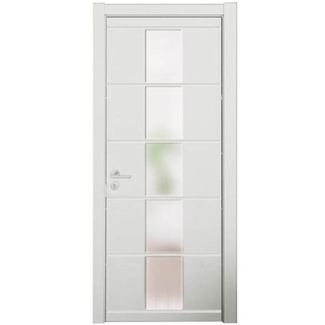 China Modern White Lacquer Middle Glass Bedroom Wood Door Modern White Interior Doors