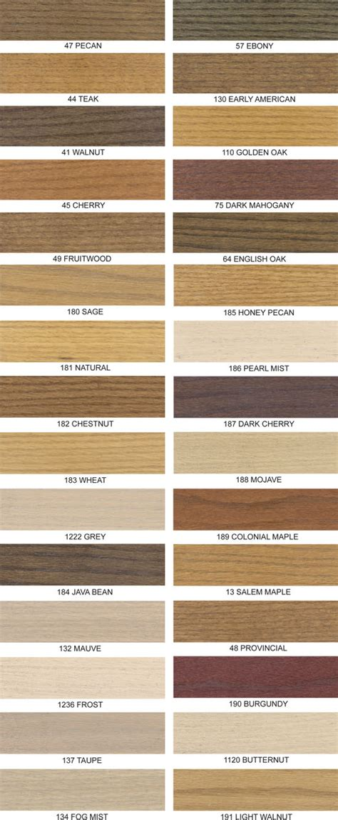 wood stains colors daly s wood finishing products