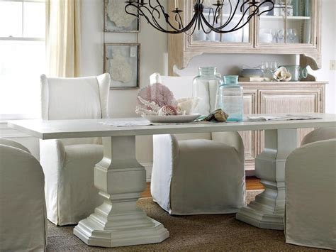 a white dining table matches any theme in your dining room coastal decorating ideas beachfront bargain hunt hgtv