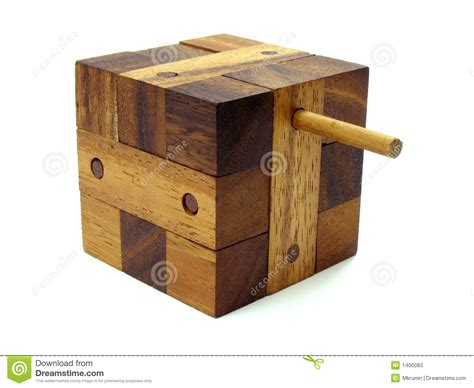 wooden cube puzzle  stock  image