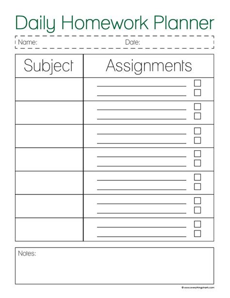 printable assignment organizer search results for daily planner printables page 2