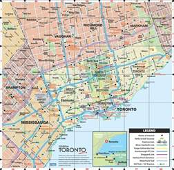 toronto map of canada toronto road map