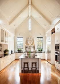 bright kitchen cathedral ceilings decorating