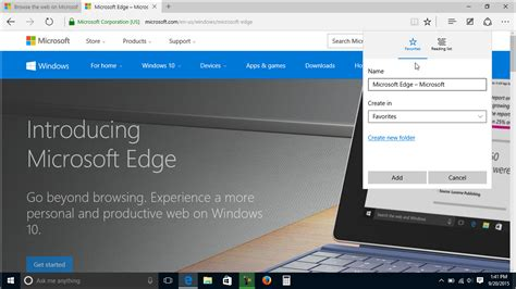 windows 10 microsoft edge tutorial add a favorite to microsoft edge tutorial teachucomp inc