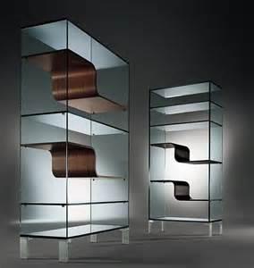 Glass Bookcase Modern Glass Bookcase Freshome