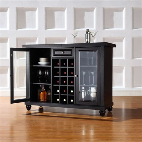 crosley cambridge sliding top bar cabinet crosley furniture cambridge sliding top bar cabinet