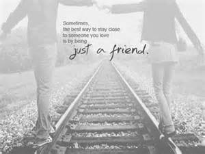 Sometimes the best way to stay close to someone you love is by being
