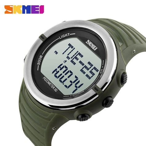 Jam Tangan Skmei Water Resistant 50m Army Green skmei jam tangan digital pria dg1111hr army green jakartanotebook