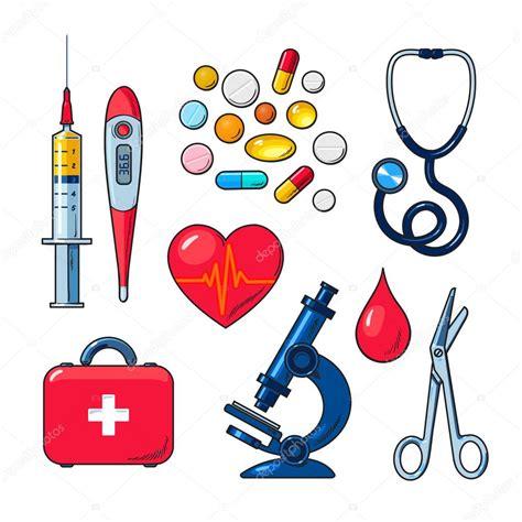 imagenes de herramientas medicas медицинские иконки изолированные цветной рисунок