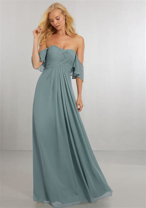 color bridesmaid dresses boho chic chiffon bridesmaids dress with the shoulder