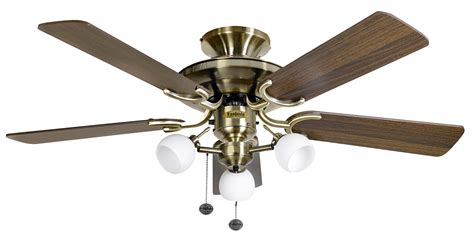 Fantasia Ceiling Fan Lights Fantasia Mayfair Combi 42 Antique Brass Oak Blades Ceiling Fan Light 115489