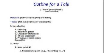 Speaking Outline Website by Writeinternational