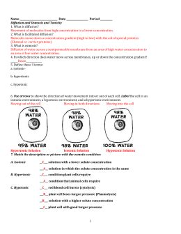 cell membrane tonicity worksheet