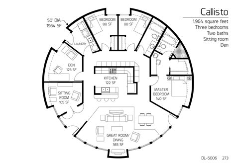 monolithic dome homes floor plans floor plan dl 5006 monolithic dome institute