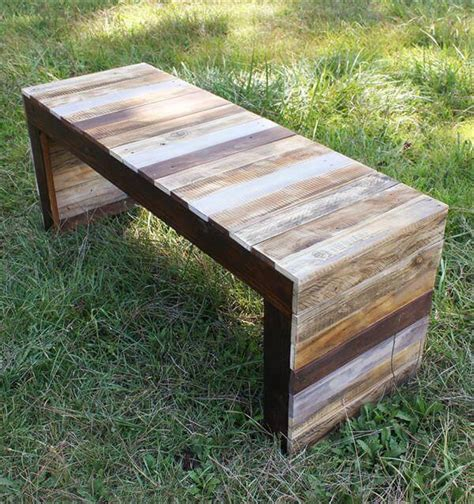 bench made of pallets recycled pallet wood table or bench 101 pallets