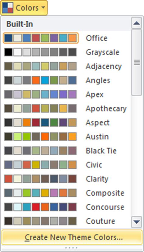 color themes in excel ms excel 2010 custom colors visible ranking