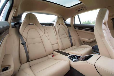 2017 Porsche Panamera 4s Rear Interior Seats Motor Trend
