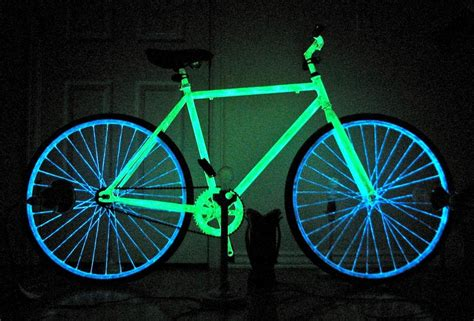 neon light wall bicycle make your bike glow in the with phosphorescent
