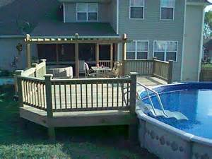 decks for above ground swimming pools backyard design ideas