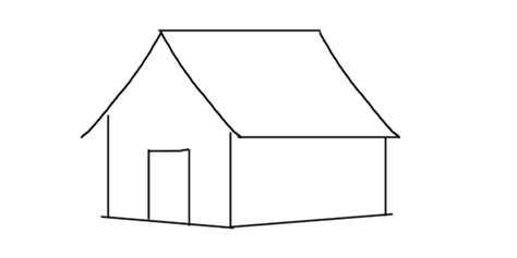 how to draw a house easy drawing step by step tutorials how to draw a house step by step drawing for kids
