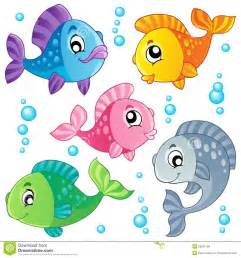 cute fishes collection 3 stock photo image 23591180