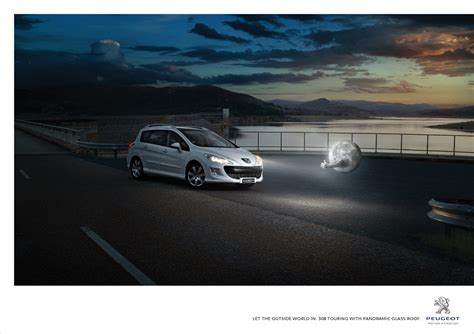 peugeot commercial print ad peugeot 308 touring moon