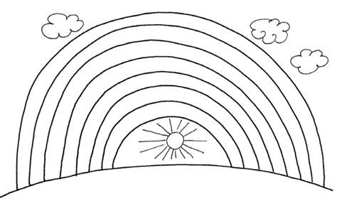 rainbow bridge coloring page mathematics for children number seven and rainbow