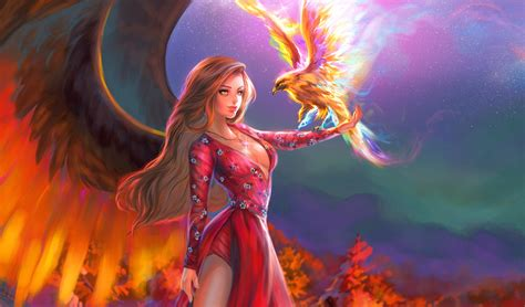 fantasy girl  phoenix hd fantasy girls  wallpapers